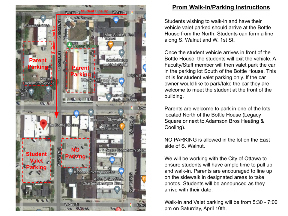 Prom Walk-In Instructions
