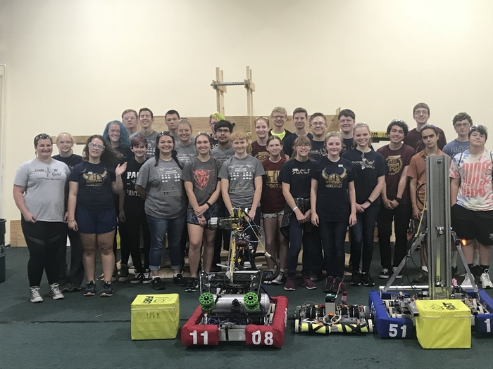 All three teams (and their Bots) at the end of the day.
