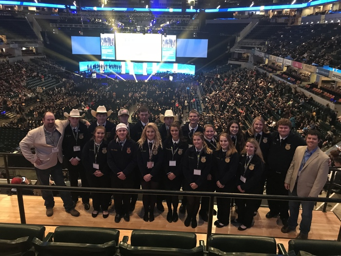Central Heights FFA members are getting ready for the 5th session of the 91st National FFA Convention.