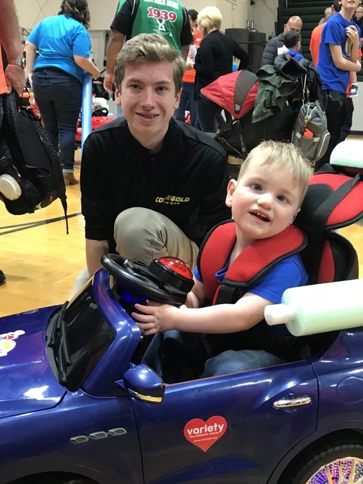 Met Wyatt! He loved he new car modified by Code Gold.