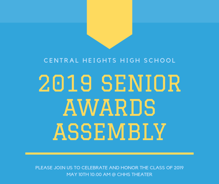 2019 Senior Awards Assembly