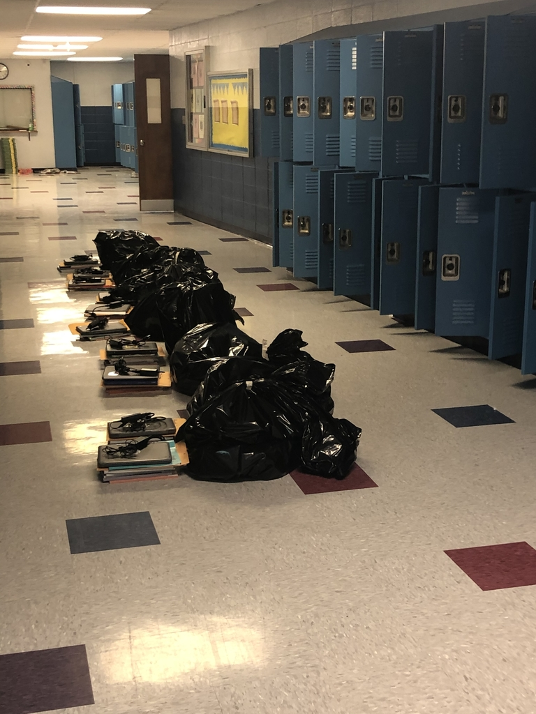 "Student ""stuff"" and empty lockers. 🙁"